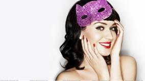 Katy Perry Red Lips Smiling Face N White Background